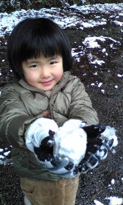 雪だぁ〜!
